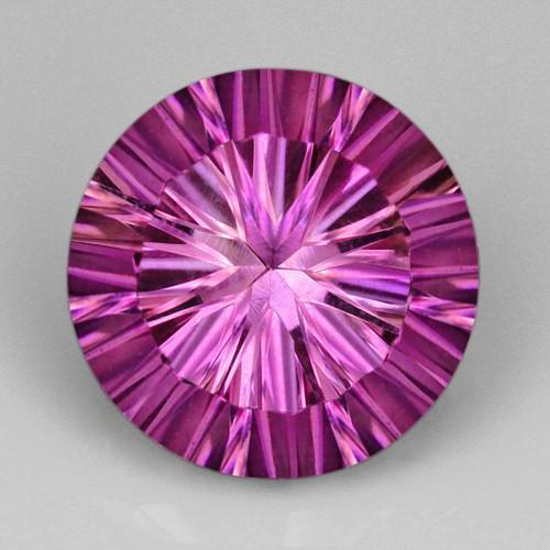5.3ct. Genuine Round Facet Fancy cut Purple Amethyst