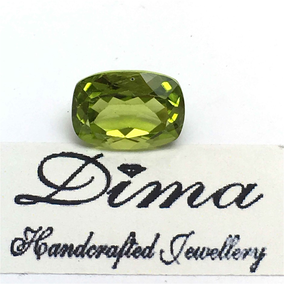 One Stone Peridot 4.04ct in Total
