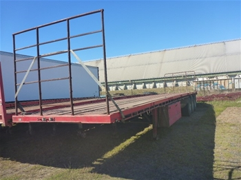 1998 Freighter ST3 Triaxle Flat Top Trailer