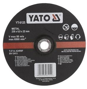 5 x YATO Metal Grinding Discs 230 x 6.0