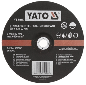 5 x YATO Stainless Steel Metal Cutting D