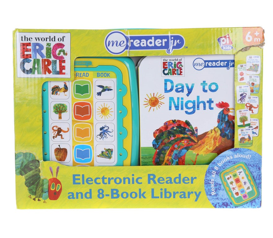 ERIC CARLE Electronic Reader & 8-Book Library. Buyers Note - Discount Freig