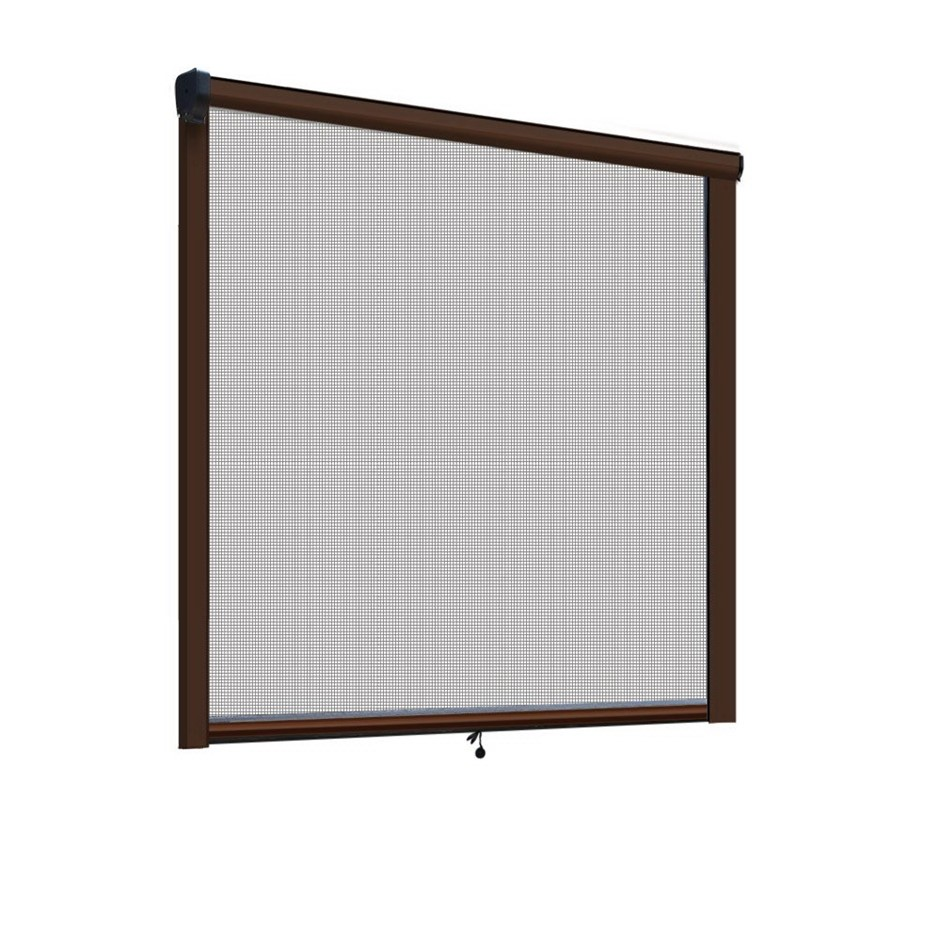 Instahut Retractable Window Fly Screen Flyscreen Mesh DIY 1.5m x 1.5m Brown