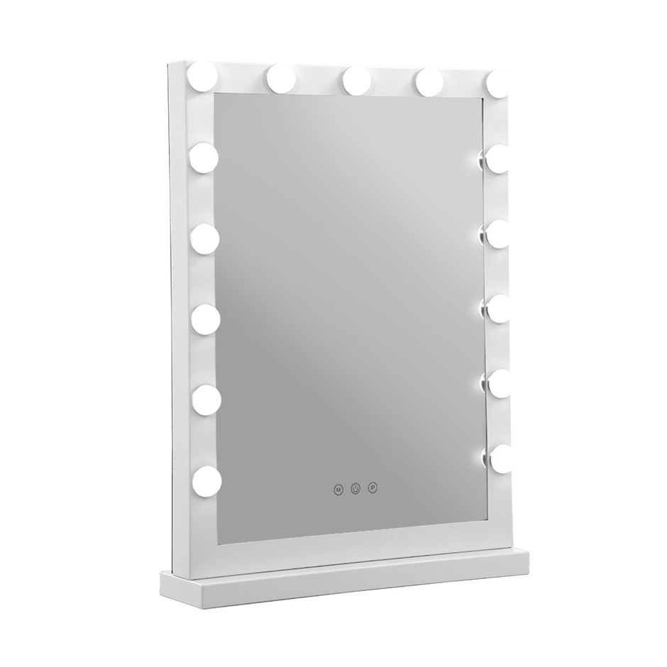 Embellir Hollywood Makeup Mirror With Light 15 LED Bulbs Lighted Stand