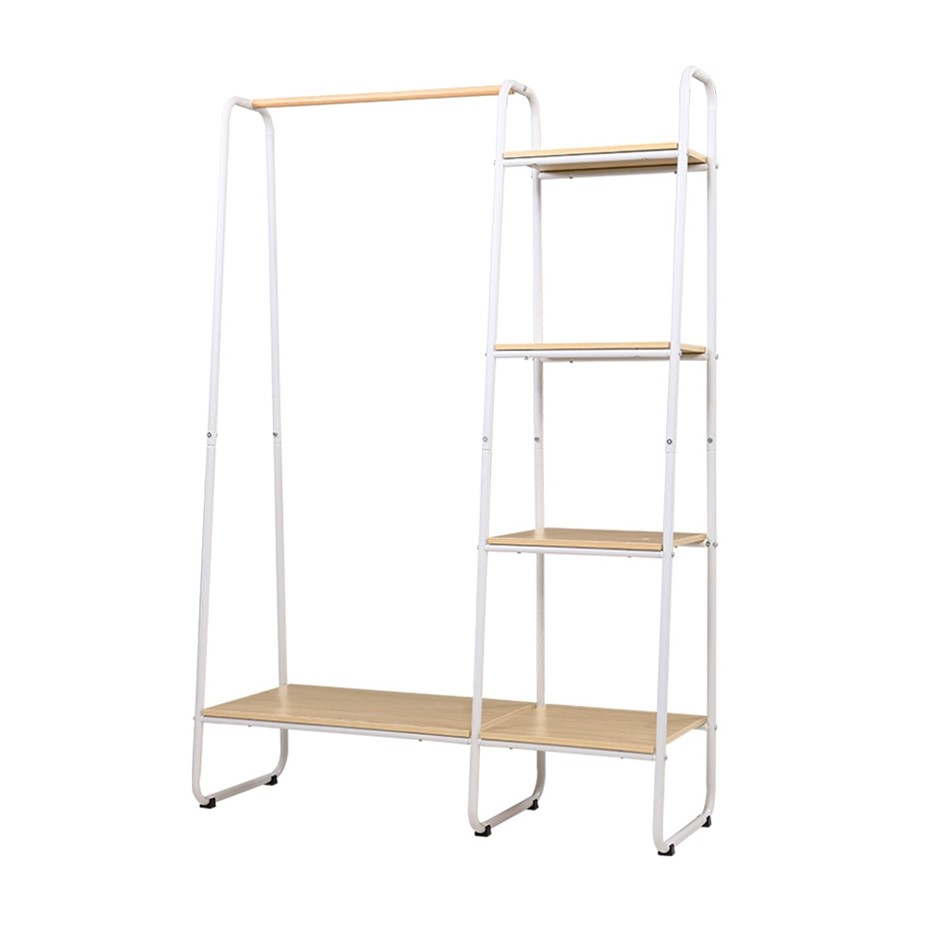 Closet Storage Rack Clothes Hanger Garment Rail Stand Wardrobe Organiser