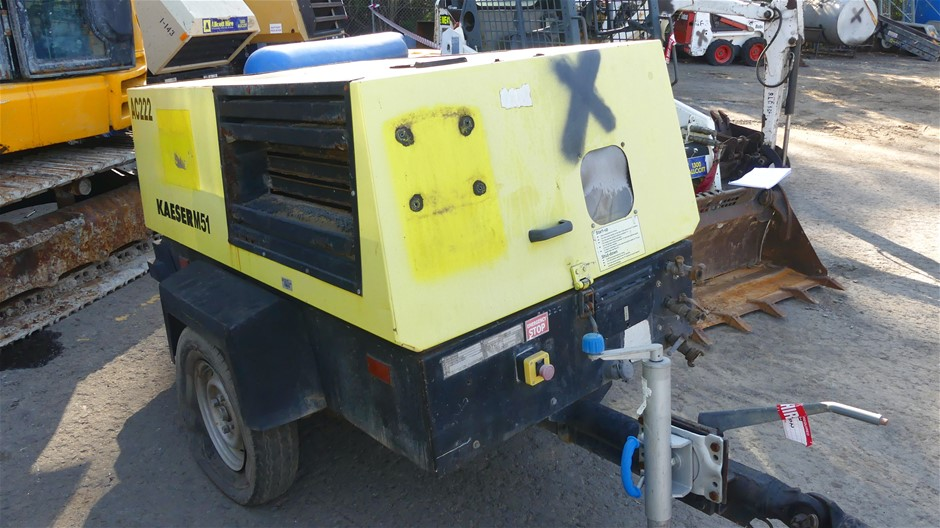 Kaeser M51 Compressor (Non Operational) - Trailer Mounted.
