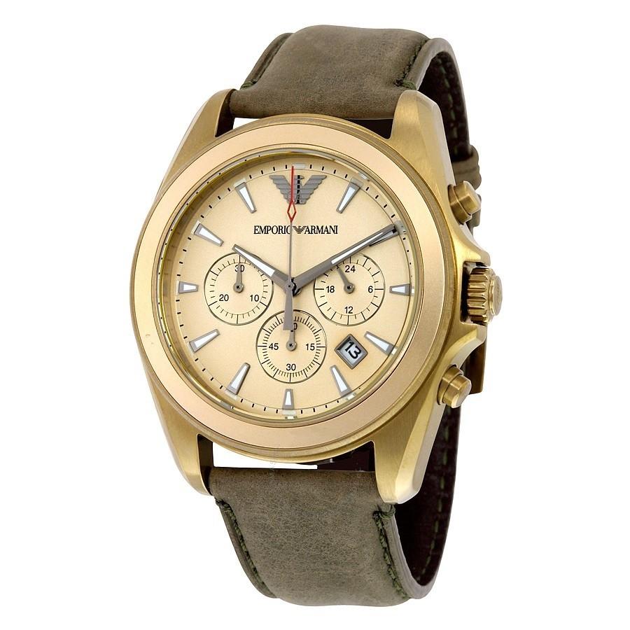 Sophisticated new Emporio Armani Sportivo gold-tone Chronograph men's watch