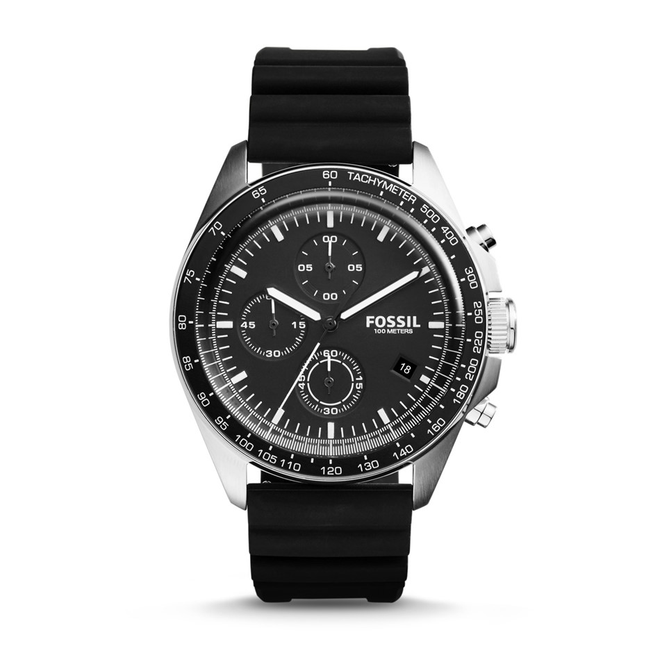 Dynamic new Fossil Sport 54 Black Dial Chronograph Men's Watch