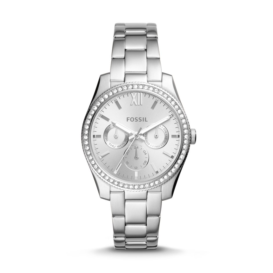 Stylish new ladies Scarlette Fossil stainless steel watch.