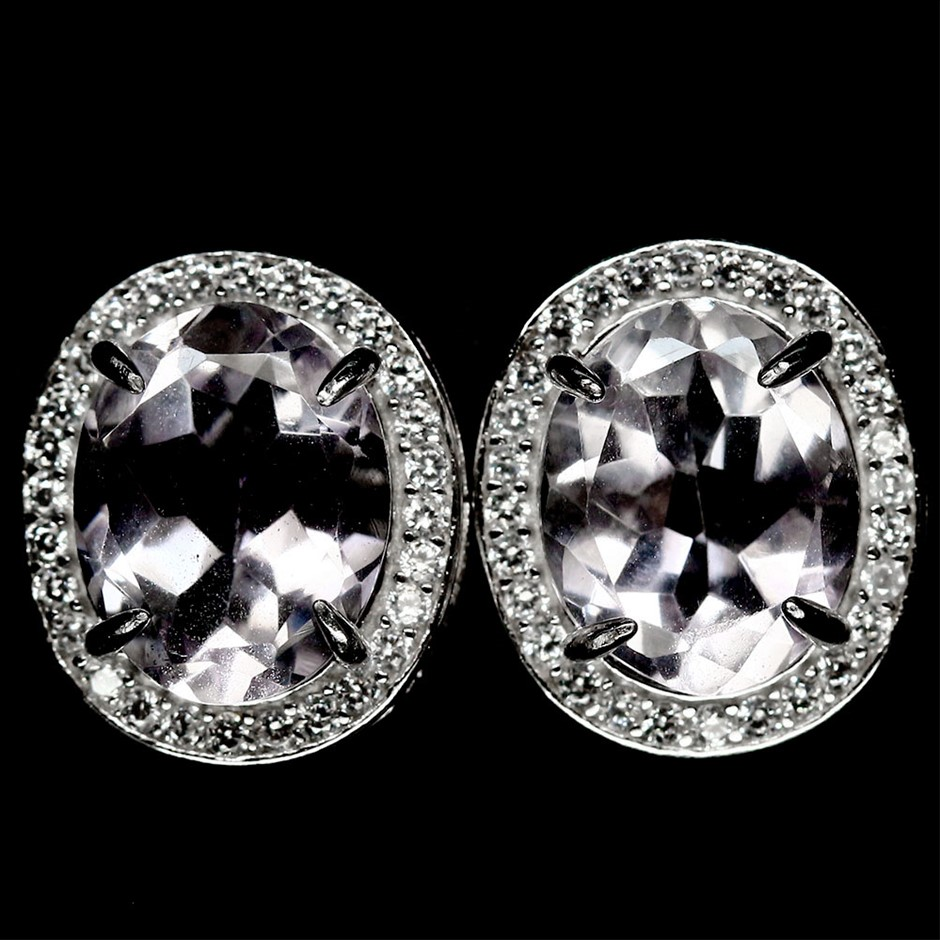 Gorgeous Genuine Amethyst Stud Earrings