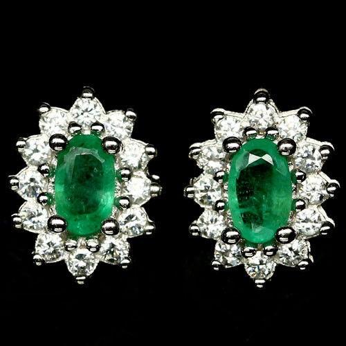 Delightful Zambian Emerald Earrings.