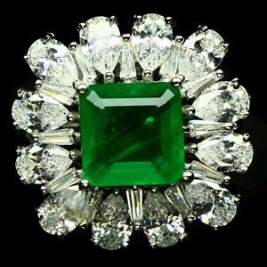 Elegant Forest Green Doublet Emerald Rin