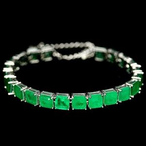Amazing Green Doublet Emerald Bracelet