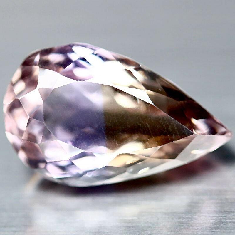 7.02 ct. Pear Cut Purple & Yellow Ametrine