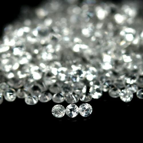 9.14 ct. (Approx. 488pc) Round Diamond Cut White Zircons