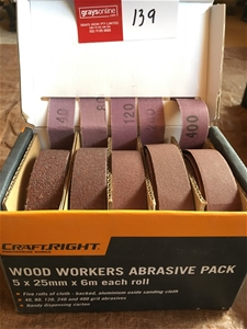 CraftRight Wood Workers Abrasive Pack