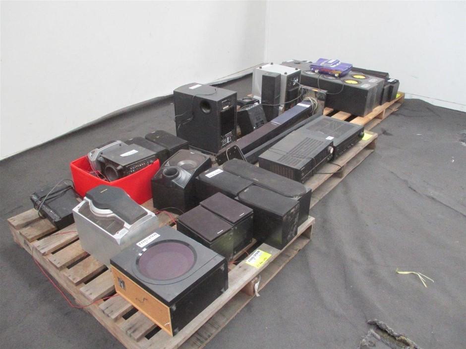 3 x Pallet Qty Assorted Speakers & AV Equipment