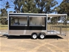 2020 Dual Axle Enclosed 740 Food Trailer with Porch - RED