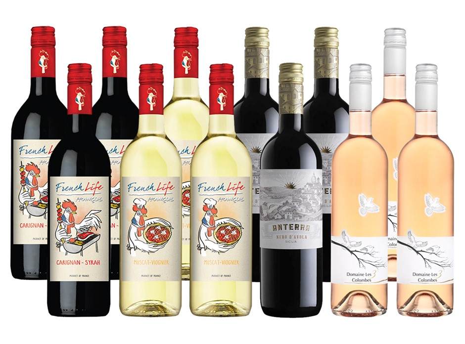 Wines Of The World Mixed Pack (12x 750mL)