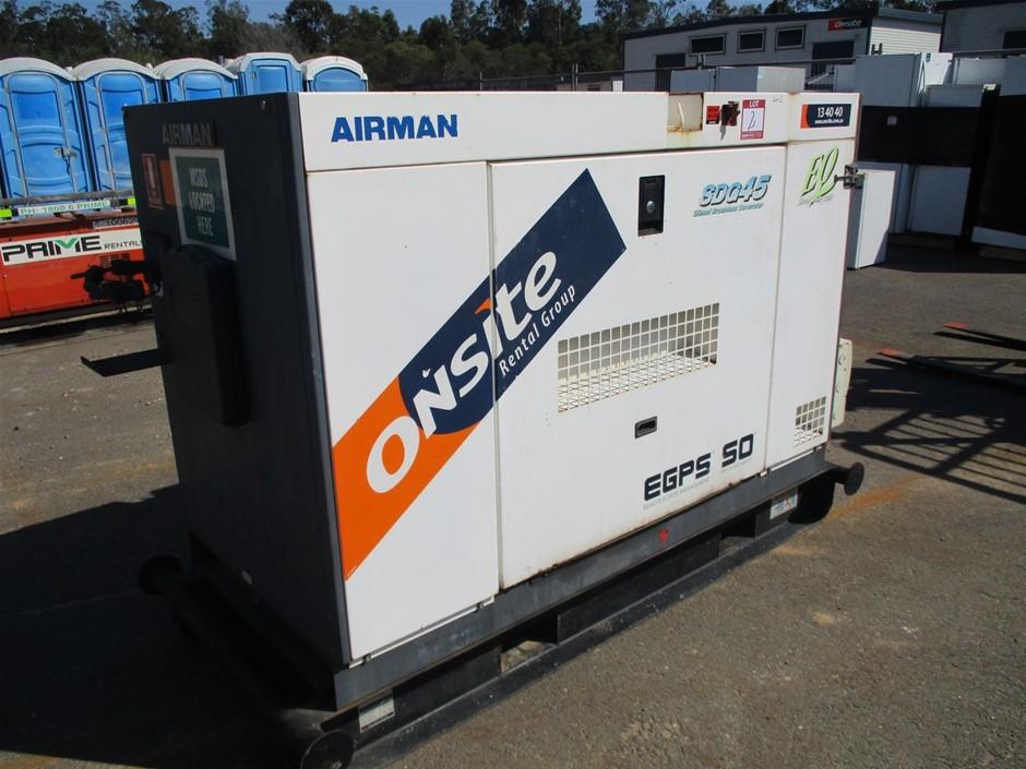 Airman 45kVA Generator, Diesel - Brisbane