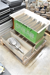 Sample separator with 10 chutes x 50mm i