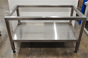 Bench frame, stainless steel: 134cm L x