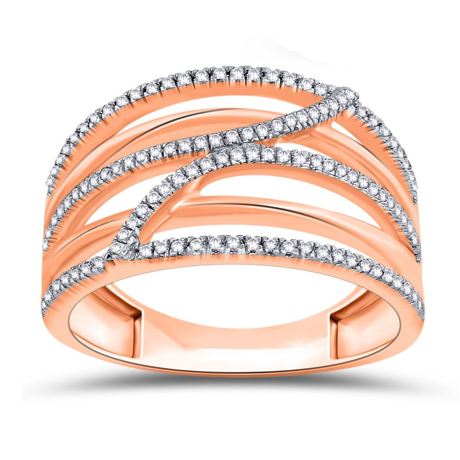 9ct Rose Gold, 0.19ct Diamond Ring
