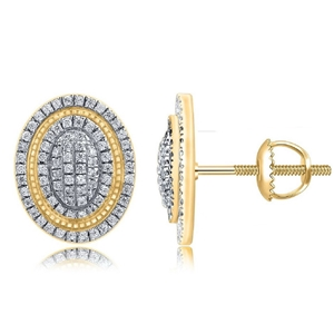 9ct Yellow Gold, 0.24ct Diamond Earring