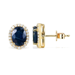 9ct Yellow Gold, 4.82ct Blue Sapphire an