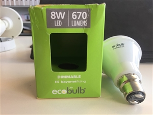 (50 Pack) Ecobulb 8W 670 Lumes Dimmable