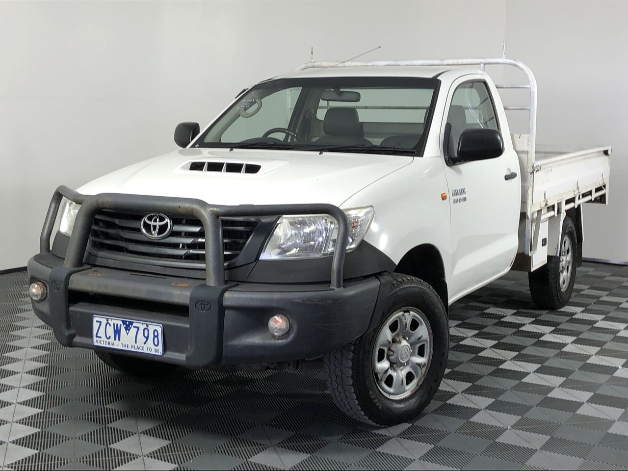 2012 Toyota Hilux Workmate (4x4) KUN26R Turbo Diesel Manual Cab Chassis