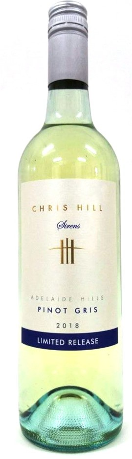 Chris Hill Sirens Pinot Gris Limited Release 2018 (6 x 750mL) SA