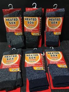 Lot of 6 Mens Heated Socks
