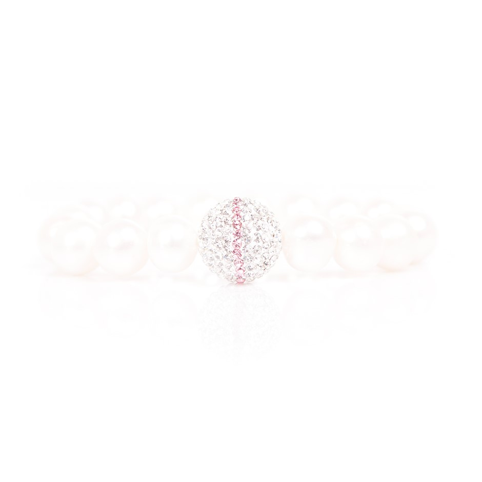 Freshwater Pearl & Crystal Set Bracelet
