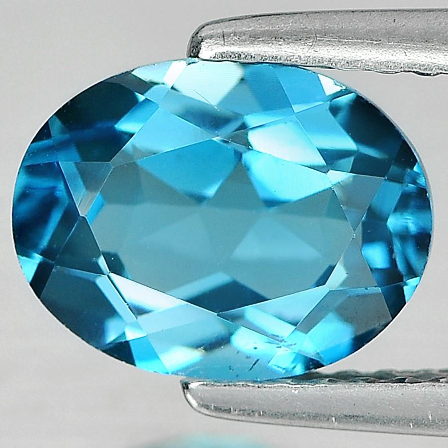 2.20ct. Genuine Oval facet London Blue Topaz