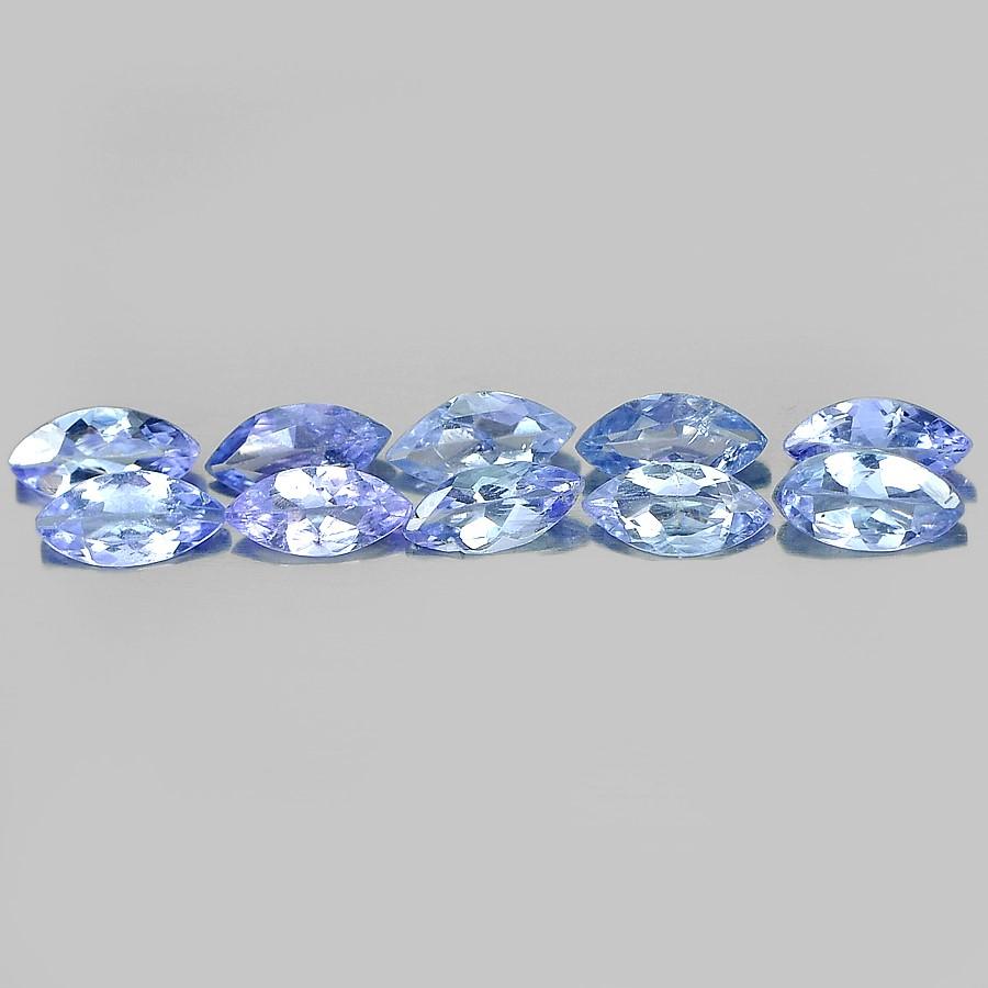 1.15ct. Genuine Marquise facet Violetish Blue Tanzanite 10 Piece