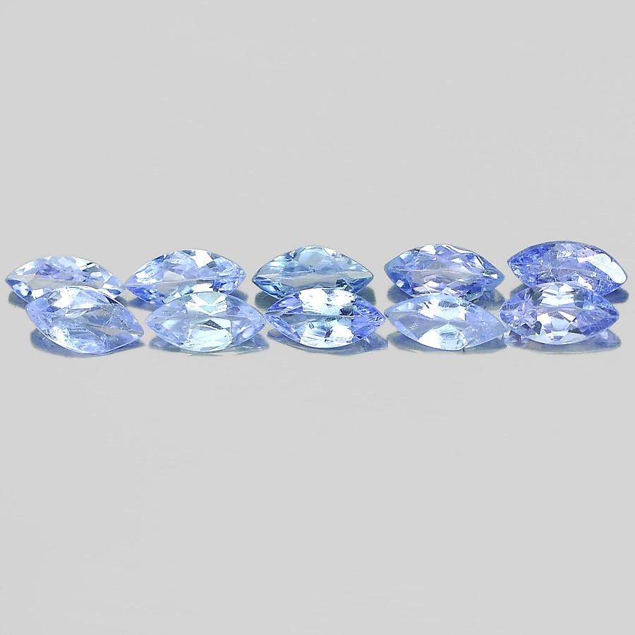 1.05ct. Genuine Marquise facet Violetish Blue Tanzanite 10 Piece