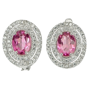 Gorgeous Genuine Pink Topaz Sterling Sil