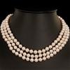 Triple Length Natural Akoya Pearl Uniform Necklace 7.0 - 7.5mm