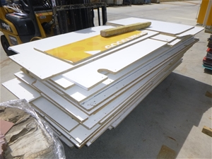 Stack of Chip Board Off Cuts