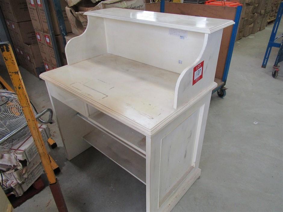 White Timber Desk