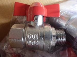 "Qty 20x ½"" BSP Brass Ball Valves M/F (Po"