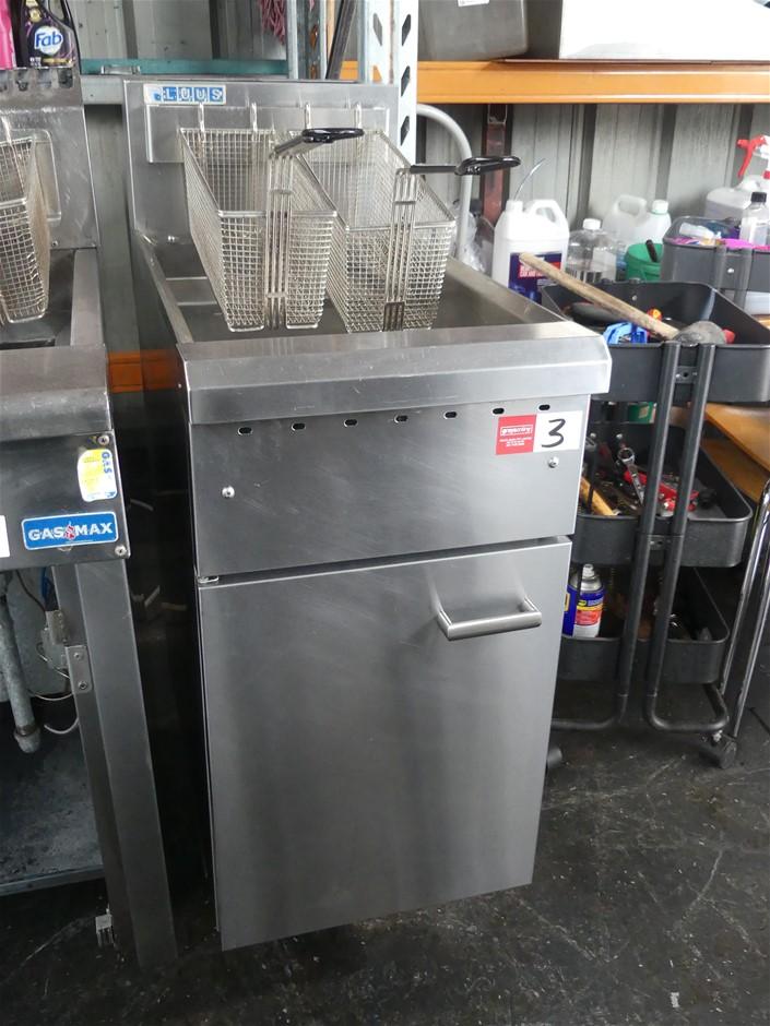 2014 LUUS FG-40 Free Standing 2 Basket Deep Fryer