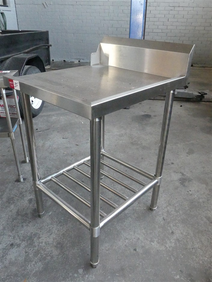 Stainless Steel Dishwasher Feed-in Bench