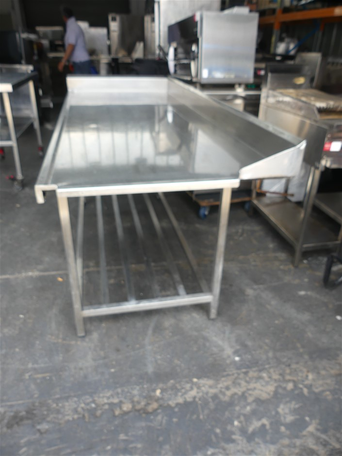 Stainless Steel Corner Dishwasher Feed-in Bench