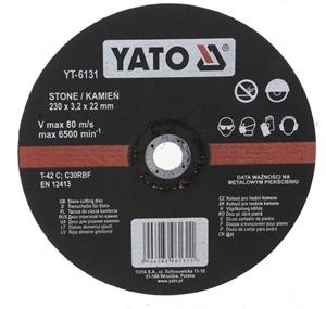 5 x YATO Stone Cutting Discs 230 x 3.2 x