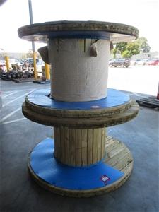 Qty 2 x Timber Wire Dispenser Wheels (Po