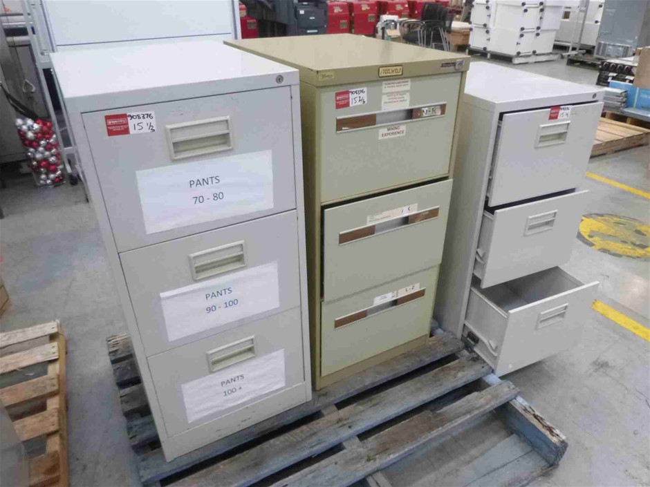 3x Assorted Filing Cabinets