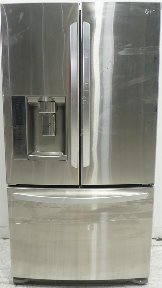 LG 613L Stainless Steel French Door-In-Door Refrigerator (GF-D613SL)