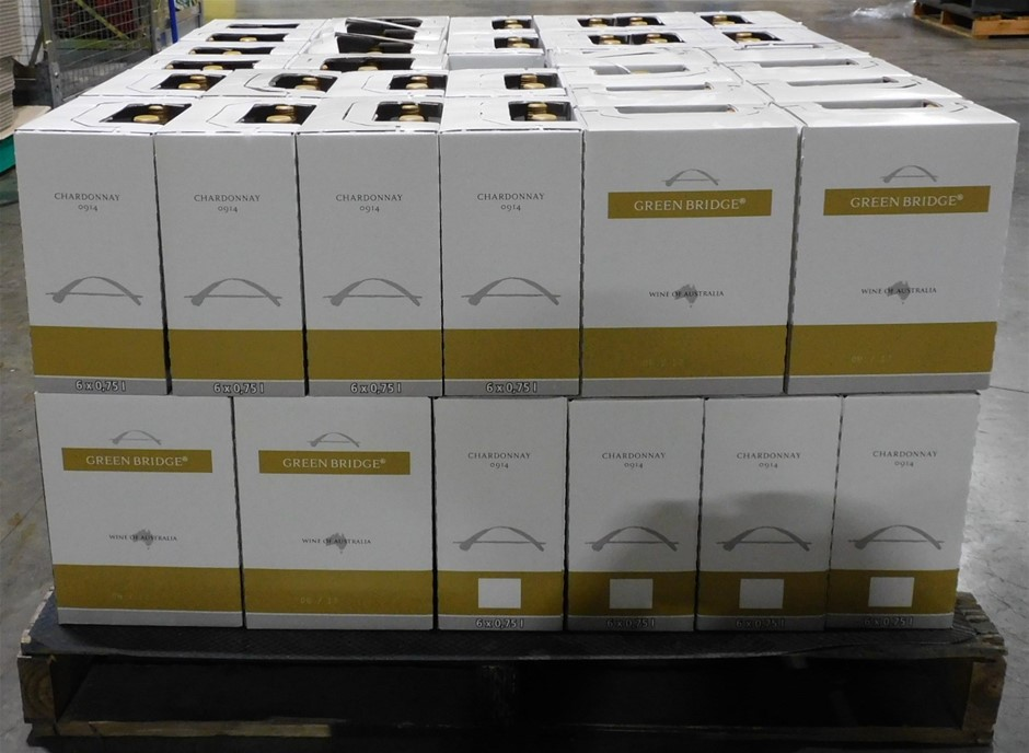 Pallet of Approx 384 Bottles of Andrew Peace `Green Bridge` Chardonnay 2016